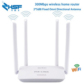 300Mbps wireless WiFi router Wi Fi repeater Booster 5Ports RJ45 802.11N easy to set up home 4Pcs external antenna up to 32 users|Wireless Routers