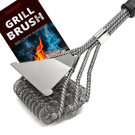 Safe Grill Brush Bristle Free BBQ Grill Brush Rust Resistant Stainless Steel Barbecue Cleaner Great Grilling Accessories|Cleaning Brushes