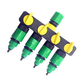 1 Set (6 Pcs) 4 Way Shunt Water pipe connector Water diverter Drip garden irrigation 4/7 or 8/11 Hose Connector Fitting|Garden Water Connectors