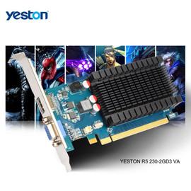 Yeston Radeon R5 230 GPU 2GB GDDR3 64 bit Gaming Desktop computer PC Video Graphics Cards support VGA/HDMI PCI E X16 2.0|Graphics Cards