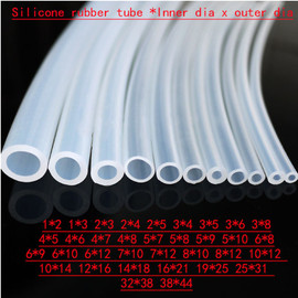 5m Silicone rubber tube 6x8 6x9 6x10 6x12 7x10 7x12 8x10 8x12 10x12 10x14 12x16 14x18 mm transparent clear pipe Hose plumbing|Sealing Strips