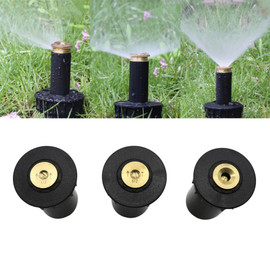 "90 360 Degree Pop up Sprinklers Plastic Lawn Watering Sprinkler Head Adjustable Garden Spray Nozzle 1/2"" Female Thread 1 Pc