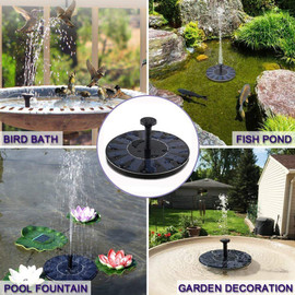 Mini Solar Fountain Solar Water Fountain Garden Pool Pond Outdoor Solar Panel Garden Decoration |Fountains & Bird Baths