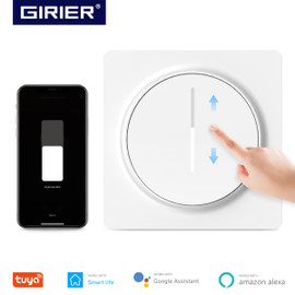Tuya Smart Wifi Dimmer Light Switch EU, Touch Dimming Panel Wall Switch 100 240V, Works with Alexa Google Home, No Hub Required|Switches