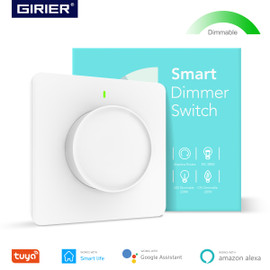Smart Wifi Light Dimmer Switch, Dimmable Rotary Wall Switch EU 100 240V, Works with Alexa Google Home Assistant, No Hub Required|Switches