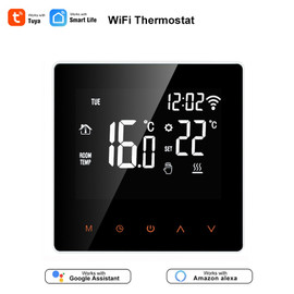 Tuya Smart Life WiFi Thermostat Temperature Controller for Water/Electric floor Heating Water/Gas Boiler Works with Alexa Google|Smart Temperature Control System