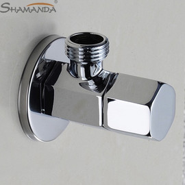 Universal G1/2 Thread Triangle Valve Plating Angle Valve Thickened Quick Opening Large Flow Filling Valves for Toilet Sink Water|chrome finished|bathroom productsbathroom basin