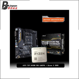 AMD Ryzen 5 3600 R5 3600 CPU + Asus TUF B450M PRO GAMING Motherboard Suit Socket AM4 CPU + Motherbaord Suit Without cooler|Motherboards