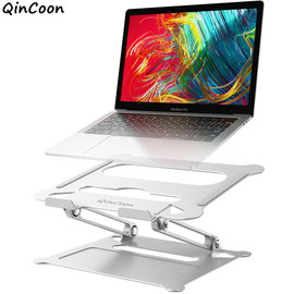 Adjustable Aluminum Laptop Stand Ergonomic Multi Angle Desk Laptop Holder w/Heat Vent for Notebook MacBook Dell HP More 10 17.3"