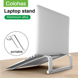 Adjustable Aluminum Laptop Stand Portable Notebook Support Holder For Macbook Pro Computer Riser Stand Cooling Bracket|Laptop Stand