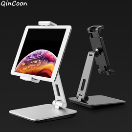 "Adjustable Heavy Duty Aluminum Tablet Stand 360° Swivel Foldable Tablet Holder for iPad Tab Kindle Nintendo Switch (4.7 13"")