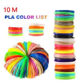 Plastic for 3d Pen 10 Meter PLA 1.75mm 3D Printer Filament Printing Materials Extruder Accessories Parts Transparent White Wood|3D Printing Materials