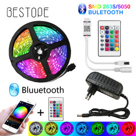 Bluetooth LED Strip Lights 20M RGB 5050 SMD Flexible Ribbon Waterproof RGB LED Light 5M 10M Tape Diode DC 12V Bluetooth Control|LED Strips