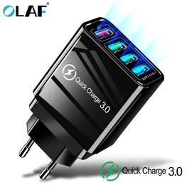 48W Quick Charger 3.0 USB Charger for Samsung A50 A30 iPhone 7 8 Xiaomi mi9 Tablet QC 3.0 Fast Wall Charger US EU UK Plug Adapte|Mobile Phone Chargers