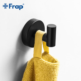 Frap Bath Hardware Sets Black Stainless steel modern bathroom shelf towel bar robe hooks toilet paper holder 3 color Y15003|Bath Hardware Sets