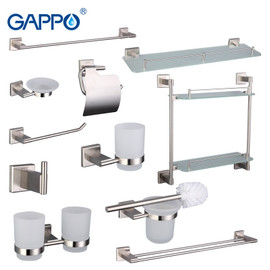 Gappo Bathroom Accessories Towel Bar Dresser Clip Paper Holder Toothbrush Holder Bath towel back Towel ring Bathroom Sets G17T11|bathroom accessories|bathroom towel bars accessoriestowel bar sets
