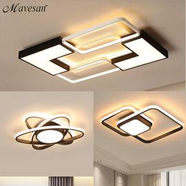 Chandelier For Living Room Bedroom Study Room Dimmable 110V 220V White+Black Ceiling Chandelier Crystal Lamp|Chandeliers