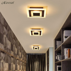 Modern ceiling lights 12w for hallway balcony corridor Coffe white light lamps bedroom luminaria teto acrylic lamparas de techo Ceiling Lights