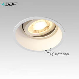 [DBF]Angle Adjustable Deep Anti Glare LED COB Recessed Downlight 5W 7W 12W 15W Round White LED Ceiling Spot Light Pic Background|Downlights