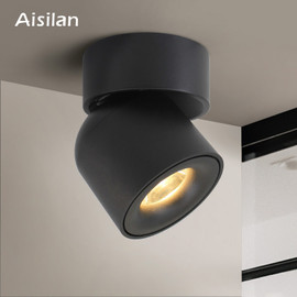 Aisilan Led Surface Mounted Ceiling Downlight Adjustable 90 degrees Nordic Spot light for indoor Foyer,Living Room AC 90 260V|Downlights