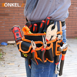 Multi functional Electrician Tools Bag Waist Pouch Belt Storage Holder Organizer Garden Tool Kits Waist Packs Oxford Cloth|Tool Bags