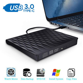 External CD DVD Drive USB 3.0 Type C Portable Ultra Slim CD DVD Rewriter Burner Writer Optical Drive For Windows Linux Mac OS|Optical Drives