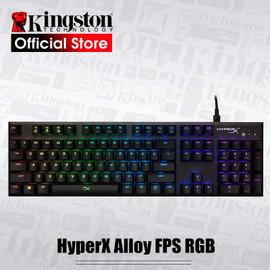 KINGSTON E sports keyboard HyperX Alloy FPS RGB Gaming Keyboard Metal panel mechanical keyboard FPS & MOBA Gaming Keycaps|Keyboards