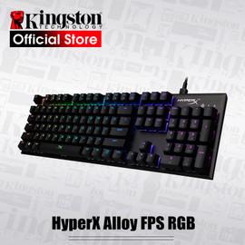 KINGSTON E sports keyboard HyperX Alloy FPS RGB Gaming Keyboard Metal panel mechanical keyboard dynamic effects|Keyboards