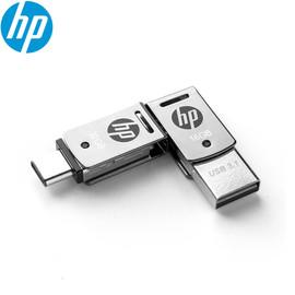 Original HP X5000M Metal OTG Type C USB 3.1 USB Flash Drive for SmartPhone/Tablet 128GB/64GB/32GB Pendrive High speed Black logo|USB Flash Drives