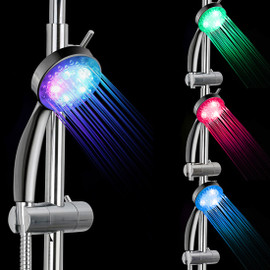 7 Color LED Shower Head No LED Rainfall Changing Shower Head pressure Automatic Waterfall Shower Single Bathroom Showerhead|Shower Heads|