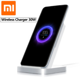 Original Xiaomi Vertical Air cooled Wireless Charger 30W Max with Flash Charging for Xiaomi Mi 9 Pro 5G Mi Mix 3 For iPhone 11|Wireless Chargers|