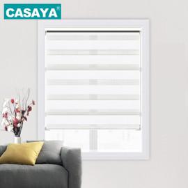 Custom Size Roller Shades Valance System Double Layer Printed Zebra Blinds bedroom living room|blinds roller shades|roller shadesroller blinds zebra