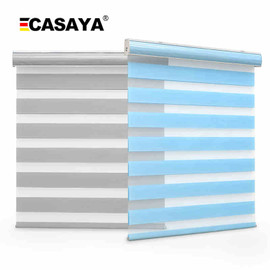 Free shipping double layer zebra blinds fabric inserted dust cover day and night roller blinds for customized size|Blinds, Shades & Shutters|