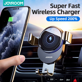 15W Qi Car Phone Holder Wireless Charger Car Mount Intelligent Infrared for Air Vent Mount car charger wireless For iPhone12 pro|Phone Holders & Stands|