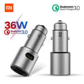 Xiaomi Car Charger Original QC 3.0 Dual USB Quick Charge Max 5V 3A 36w For iPhone Samsung Huawei oppo vivo USB C Car Charger PD|quick charge|usb quick chargedual usb
