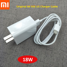 Original Xiaomi 12V1.5A 9se US Charger and Type C Cable Fast Charging Adapter For MI 9se CC9 Pro Pocophone F1 Redmi K20 Pro K30|Phone Adapters & Converters|