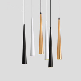 Dimmable COB Cone LED Modern Pendant Light Aluminum&Metal Home7w /12w hang lamp dining/living Room Bar Cafe Droplight Fixture|Pendant Lights|