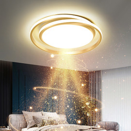 Modern Round LED Chandeliers for Bedroom Living Room Kitchen Lights Hanging Study Gold Ceiling Lamp Home Decoration Luminaria|Pendant Lights|