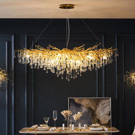 Nordic LED Luxury Crystal Chandelier Lighting for Home Decoration LOFT Kitchen Dining Living Room Hotel Hall Art Indoor Lights|Chandeliers|