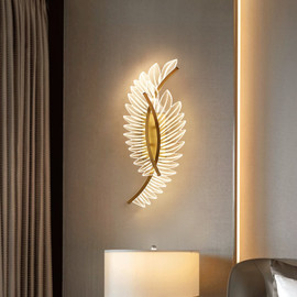 JMZM Copper Wall Lamp Bedroom Bedside LED Lamp Modern Aisle Decorative Sconces Lighting Living Room Indoor Nordic Light Fixture|LED Indoor Wall Lamps|