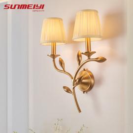 Modern LED Copper Wall Lamps For Bedroom Bedside Lamp Holtel Corridor Indoor Lighting applique murale luminaire For home|copper wall lamp|wall lamplamps for bedroom