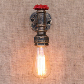 E27 Steam punk Loft Industrial iron rust Water pipe retro wall lamp Vintage sconce lights for living room bedroom restaurant bar|sconce light|vintage sconce lightingwall lamp vintage