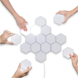 1 10PCS Touch Sensitive Lighting Lamp Hexagonal Lamps Quantum Lamp Modular LED Night Light Hexagons Creative Decoration Lamp|LED Night Lights|