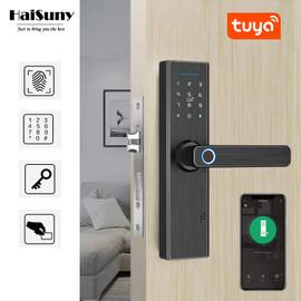 Tuya Biometric Fingerprint Lock Fingerprint Password IC Card APP Unlock Security Tuya Smart Door Lock