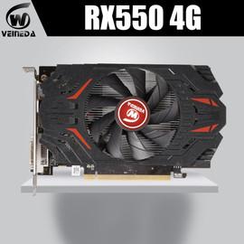 VEINIDA Graphics Card Radeon Rx550 GPU 4Gb Gddr5 128bit Pci Express 3.0 Directx12 Video Gaming For Desktop Graphics Cards 