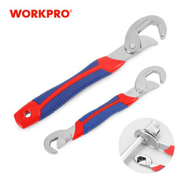 WORKPRO Adjustable Wrench Spanner Set Multi Function Universal Quick Snap Soft Grip|Wrench|