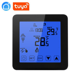 Alexa Google home smart Wifi energy saving thermostat programmable touch screen temperature controller electric & water heating|Smart Temperature Control System|