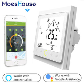 WiFi Smart Thermostat Temperature Controller for Water/Electric floor Heating Water/Gas Boiler Works with Alexa Google Home|Smart Temperature Control System|