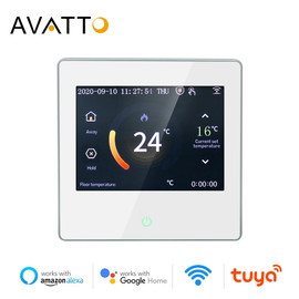 AVATTO Smart WiFi Thermostat Temperature Controller Water Electric Floor Heating Water Gas Boiler with Tuya APP Remote Control|Smart Temperature Control System|