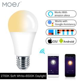 Works with Alexa Echo Google E27 E26 7W Warm Cool White Smart Life/Tuya APP Remote Control WiFi Smart Light Bulb LED Lamp|Home Automation Modules|